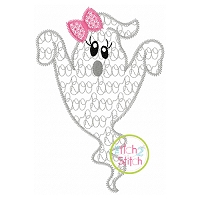 Ghost Girl Boo Motif Embroidery