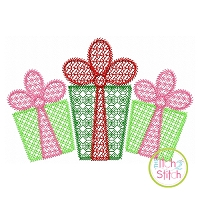 Gift Trio Motif Embroidery