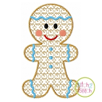 Gingerbread Boy Motif Embroidery