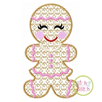 Gingerbread Girl Motif Embroidery