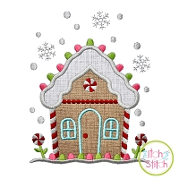 Gingerbread House Applique