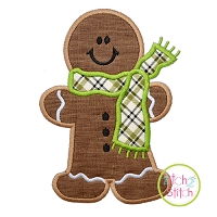 Gingerbread Man Scarf Applique