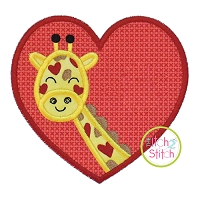 Giraffe Heart Applique
