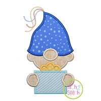 Gnome Birthday Boy Applique Design