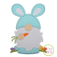Gnome Bunny Applique