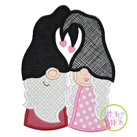 Gnome Couple Applique Design