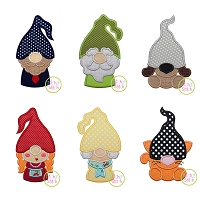 Gnome Family Adult and Pets Applique Design Set