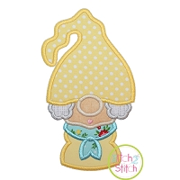Gnome Grandma Applique Design