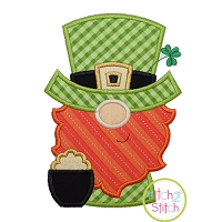 Gnome Leprechaun Applique Design