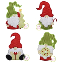 Christmas Gnome Applique Design Set