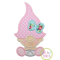 Gnome Toddler Girl Applique Design