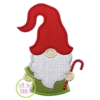Gnome with Candy Cane Applique