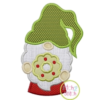 Gnome with Wreath Applique