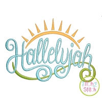 Hallelujah Embroidery Design