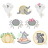 Halloween Motif Design Set