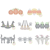 Halloween Trio Motif Design Set