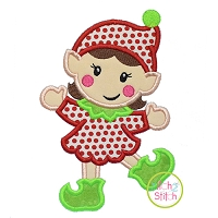 Happy Elf Girl Applique