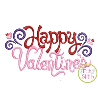 Happy Valentine's Embroidery Design