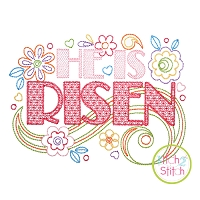 He is Risen Doodle Embroidery Design