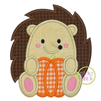 Hedgehog Pumpkin Boy Applique