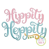 Hippity Hoppity Embroidery Design