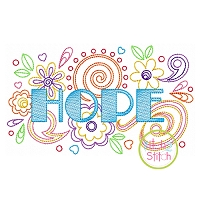 Hope Doodle Embroidery Design
