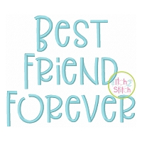 Best Friend Forever Embroidery Font