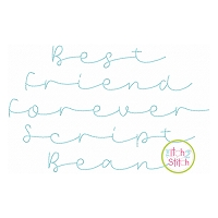 Best Friend Forever Script Bean Embroidery Font