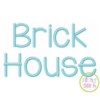Brick House Embroidery Font