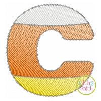 Candy Corn Sketch Embroidery Font