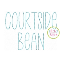 Courtside Bean Stitch Embroidery Font