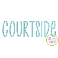 Courtside Embroidery Font