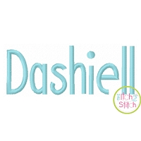 Dashiell Embroidery Font