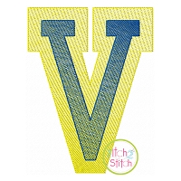 Double Varsity Sketch Embroidery Font
