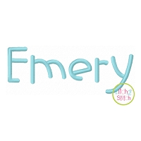 Emery Embroidery Font