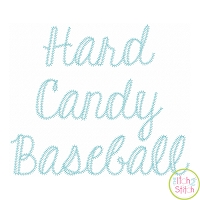 Hard Candy Baseball Embroidery Font