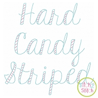 Hard Candy Striped Bean Stitch Embroidery Font