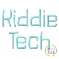 Kiddie Tech Embroidery Font