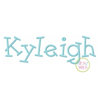 Kyleigh Embroidery Font