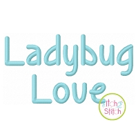 Ladybug Love Embroidery Font