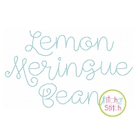 Lemon Meringue Bean Stitch Embroidery Font