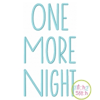 One More Night Embroidery Font