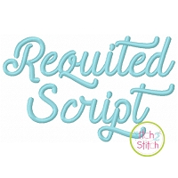 Requited Script Embroidery Font