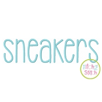 Sneakers Embroidery Font