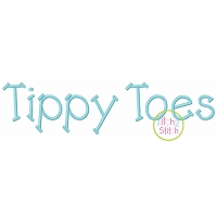 Tippy Toes Embroidery Font