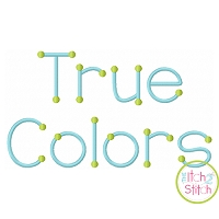 True Colors Embroidery Font
