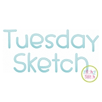dpTuesday Sketch Embroidery Font