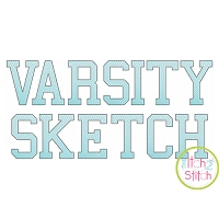 Varsity Sketch Embroidery Font