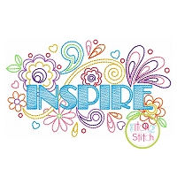 Inspire Doodle Embroidery Design