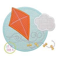 Kite Circle Applique Design